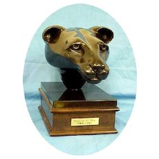 Bronze Sculpture Black Panther Cougar