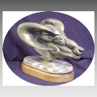 Original Art Sculpture Gilt Bronze statue sculpture Big Horn sheep NW Artist Patrick Sims Lynch - Now Deceased