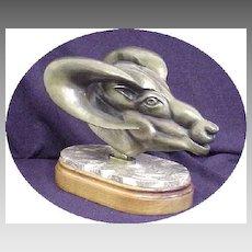 Original Art Sculpture Gilt Bronze statue sculpture Big Horn sheep NW Artist Patrick Sims Lynch - Now Deceased