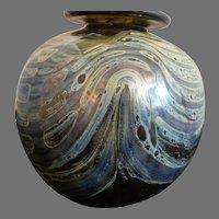 Bob Biniarz Ball Vase Biniarz Studio Art Glass 1971