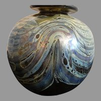 Bob Biniarz Ball Vase Biniarz Studio Art Glass 1971