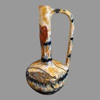 Emile Galle Faience Pottery Locust Pitcher Vase