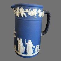 Wedgwood Pitcher Jug Cobalt Blue Jasperware 1924