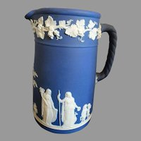 Wedgwood Pitcher Jug Cobalt Blue Jasperware 1924