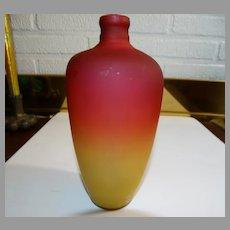 Wheeling Peachblow Art Glass Bottle Vase