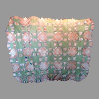 Wedding Ring Quilt Circa 1930 Pastel Polished Cotton Unwashed