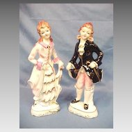 Figurine Pair Statue Statuary Wales Japan Ceramic Porcelain Courting Couple
