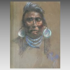"""Wisdom Sees All"" Original Painting Don Prechtel Native American Portrait"