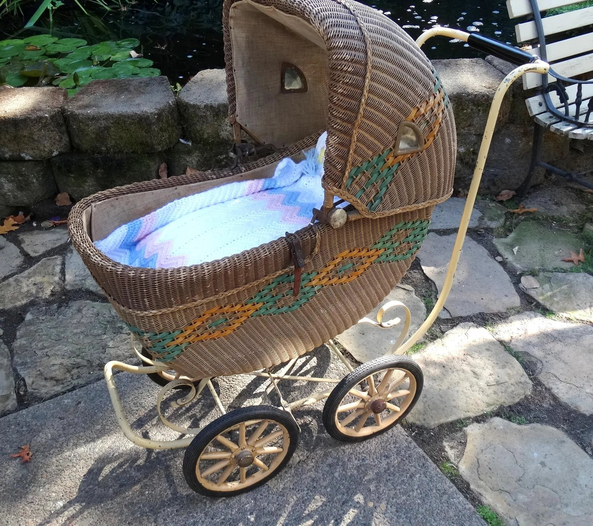 Wicker Baby Child Carriage Buggy Haywood Wakefield Museum