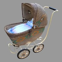 Wicker Baby Child Carriage Buggy Haywood Wakefield Museum Exhibited