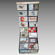 Post Cards in Advertising EZN Post Card Display Holder Packet 1909-1914