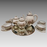 Japanese Egg Shell Porcelain Coffee Tea Set Antique Hand Painted