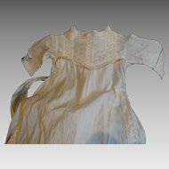 Antique Baby Christening Gown Circa 1890-1910 Linen