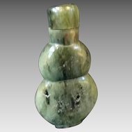 Spinach Green Jade Snuff Bottle Chinese