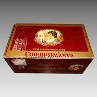 Conquistadores Cigar Box La Flor De Garcia y Vega Fine Cigars Advertising