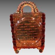 Victorian Novelty Wall Mount EAPG Match Holder Amber glass Bryce Bros.