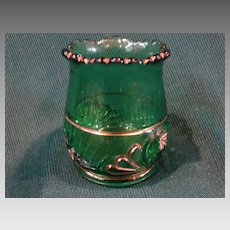 Esther EAPG Green Pattern Glass Toothpick Riverside Glass Scarce