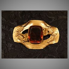 Antique Scottish Style Amber Brooch Brooch Pin Exquisite