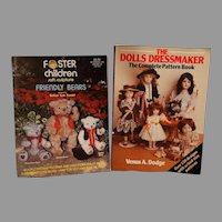 Vintage 1984 Doll and Teddy Bear Pattern Books and Byron Doll Jueau 14 Doll Pattern