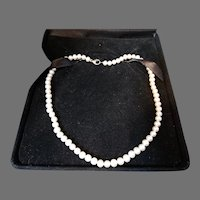 Fine Honora White Cultured Pearl Necklace Sterling Clasp