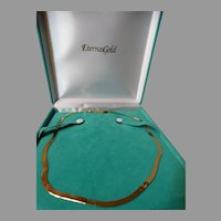 Liquid 14K Gold Necklace 14K Yellow Gold Italy