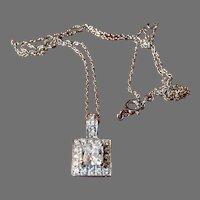 Vintage CZ Diamond Sterling Pendant Sterling Chain Vintage