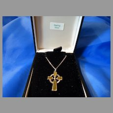 Sterling 925 Cross Pendant Necklace