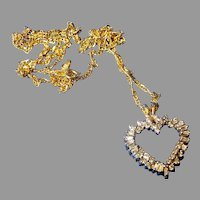 14K Gold Diamond Heart Necklace
