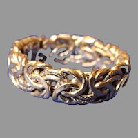 18k White Gold Ring Band Openwork Size 6