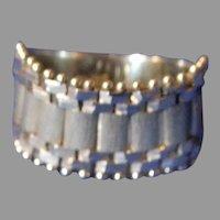 Retro Native American Style 14K White Gold Ring
