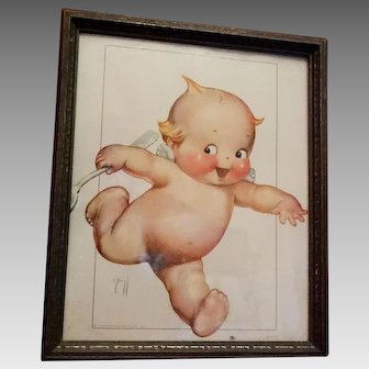 Rose O'Neill Kewpie Framed Print Period
