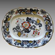 Antique Imari Ironstone Large Platter  Circa 1861-1890