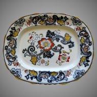 Antique Imari Ironstone Large Platter  Circa 1861-1890