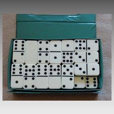 Vintage Double Nine Domino Set Original Case