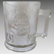 Clear 1930s Humpty Dumpty Tom Tom Nursery Rhyme Cup Mug Indiana Glass