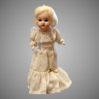 "Antique Recknagel German Bisque Doll 10"""