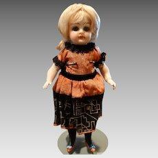 """Kestner 7.5"""" Bisque Doll Black Stockings Size 2"""