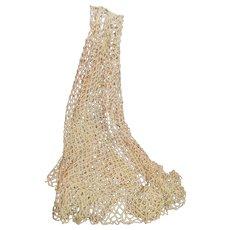 Vintage Fish Net Crocheted Shawl