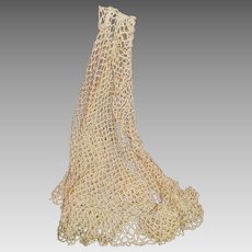 Vintage Fish Net Crocheted Shawl