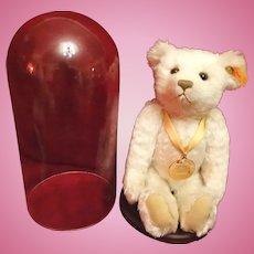 Steiff Millennium Teddy Bear and Glass Dome Display