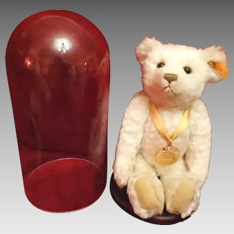 Steiff Millennium Teddy Bear and Glass Dome Display