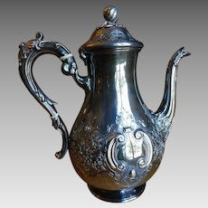1850 Sheffield Silverplate Coffee Pot Antique