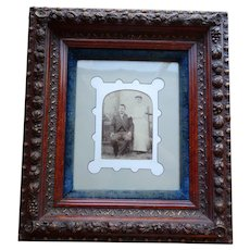 Superb Period Rococo Deep Shadow Box Frame Embossed Fruit Circa 1850