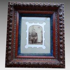 Superb Period Rococo Deep Shadow Box Frame Embossed Fruit Circa 1850