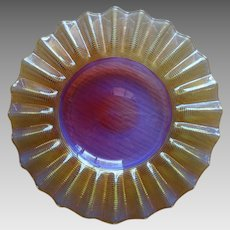 Amberina Threaded Art Glass Boston Sandwich Glass 1870 - 1880