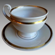 KPM Berlin Porcelain Cup and Saucer Scepter Mark 1837 -1844