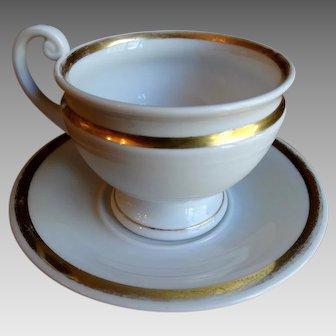 KPM Berlin Porcelain Cup and Saucer Scepter Mark 1837 -1844