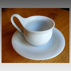 KPM Berlin Porcelain Cup and Saucer  1844-1847