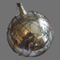 Victorian Period German Ornament  Mercury Ball with Wire