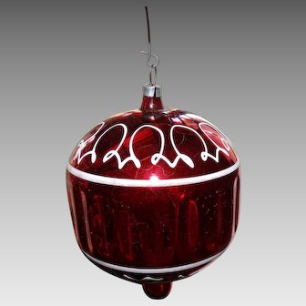 Victorian German Hand Blown Glass Christmas Ornament